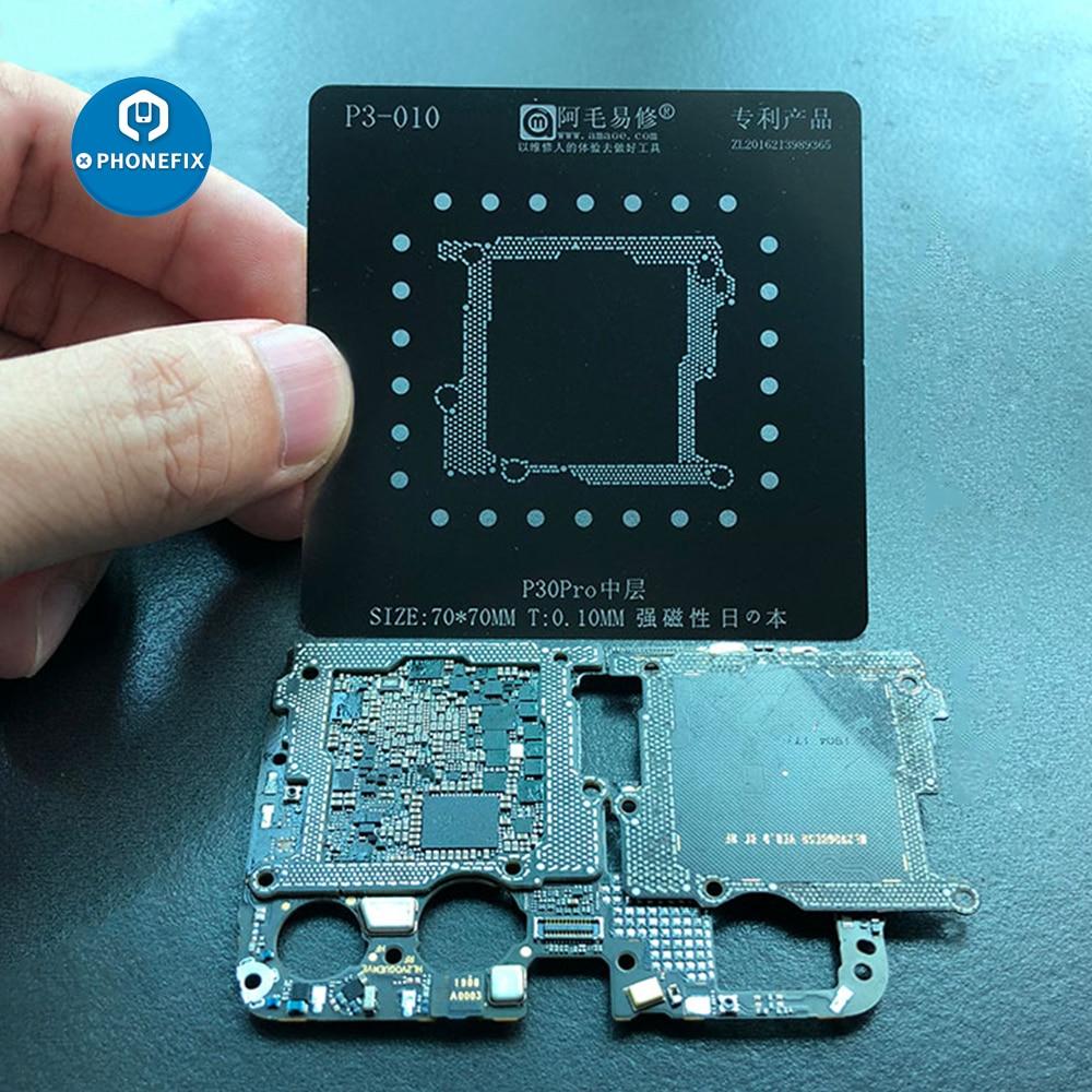 BGA Reballing Stencil Middle Frame BGA Soldering Template For Huawei P30 Pro Tin Planting Net Motherboard Repair Tool