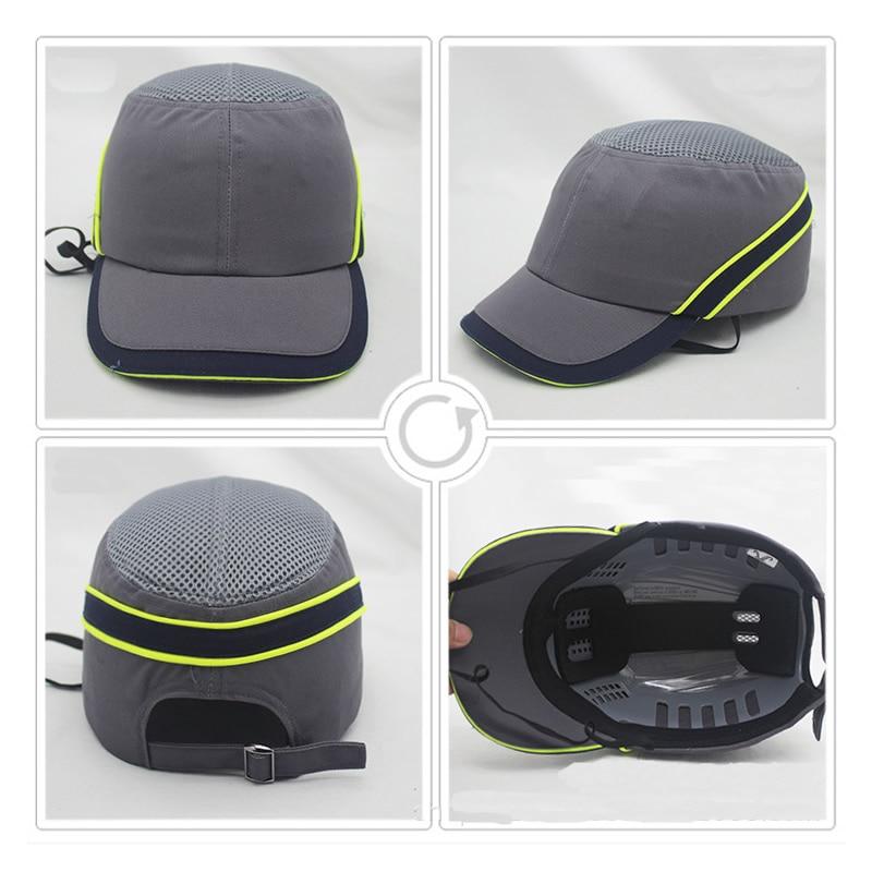 Image 3 - New Bump Safe Cap Baseball Hat Style Protective Hi Viz Anti collision Hard Hat Helmet Head Protection Work Safety RepairingSafety Helmet   -