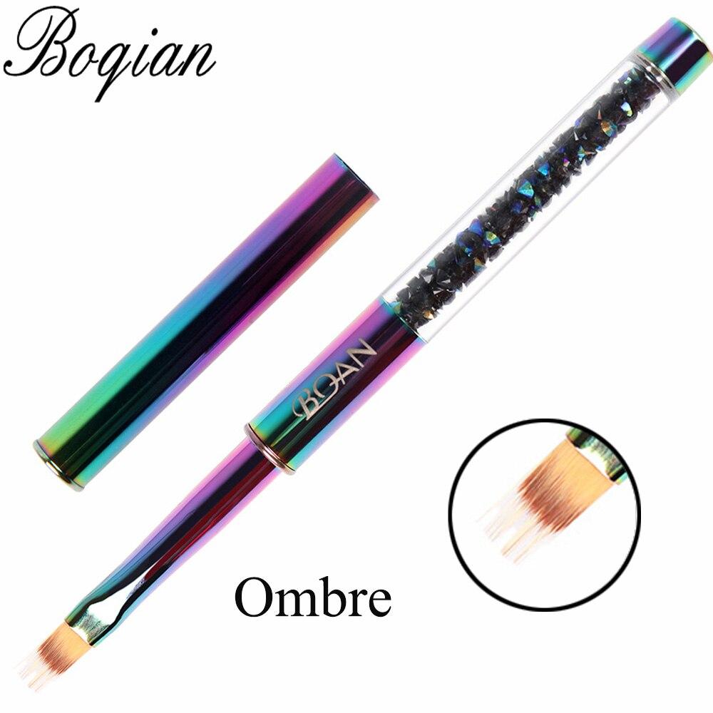 Bqan 11 pçs arco-íris escova de unhas