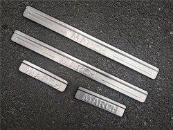Car styling drzwi ze stali nierdzewnej próg płyta chroniąca przed zarysowaniem akcesoria samochodowe dla Nissan marzec 2011-2019