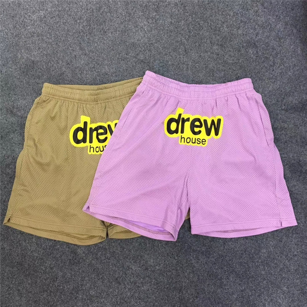 New Justin Bieber DREW House Shorts Men Women 1:1 High Quality Drawstring DREW Shorts Kanye West