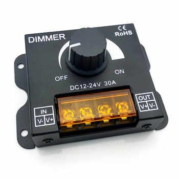 DC12V-24V LED Dimmer 8A 30A 96W 360W Adjustable Brightness Lamp Strip Light Driver Single Color LED Controller 5050 3528 Tape - DISCOUNT ITEM  12% OFF All Category