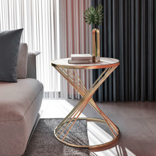 Нордическая сетка красный креативный Круглый Маленький журнальный столик простой мраморный диван прикроватный столик светильник роскошный уголок