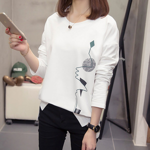 Image 4 - Nkandby T shirts pour femmes, vêtements amples, graphiques, imprimés, surdimensionnés, à manches longues, coréen, grande taille, automne