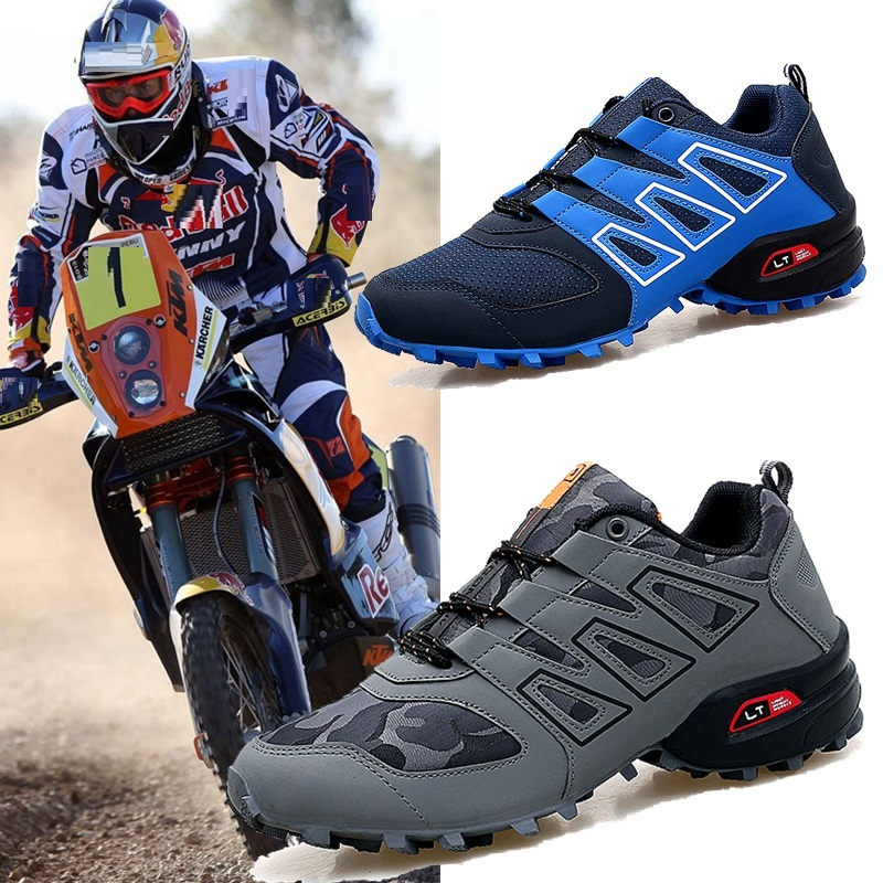 Men Bicycle Shoes Anti-slip Breathable MTB Shoes Men Non-locking Cycling Bike Shoes Leisure Race Motocros Motorbike Sneakers