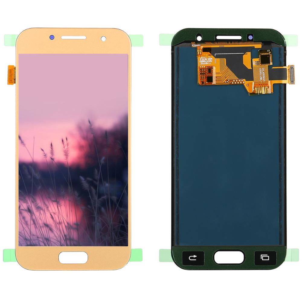 Can Adjust Brightness <font><b>LCD</b></font> For Samsung Galaxy A3 2017 <font><b>lcd</b></font> <font><b>A320</b></font> A320M A320FL A320F <font><b>LCD</b></font> Display and Touch Screen Digitizer Assembly image