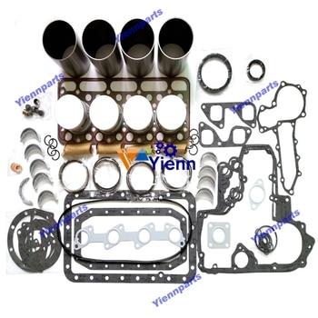 V2202 Engine Overhaul Rebuild Kit With Liner Gasket Kit Piston Piston Ring Excavator Tractor Diesel Engine Repair Parts