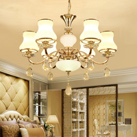 European Crystal Hotel Hall Luxury Lamps Simple Post Modern American Simple Creative Dining room Bedroom Chandelier Lights