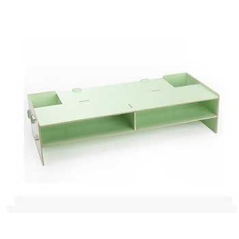 1PC Office Desktop Monitor Base File Holder Creative Storage Box Wooden Multilayer Mobile Shelf Household Detachable Desktop Box