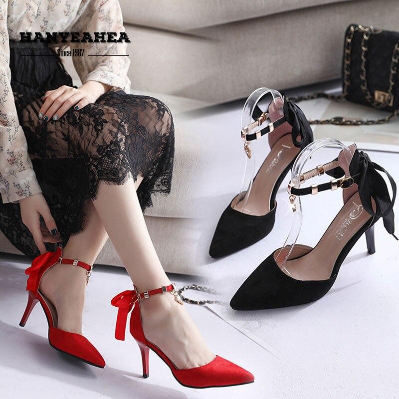 Rhine Stone Sandalias De Verano Para Mujer Sweet Mature High Heels Elegane Fashion Sandalias De Verano Para Mujer in High Heels from Shoes