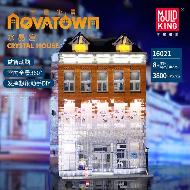 MOC Creator uzman kristal ev tuğla şehir sokak serisi Model oyuncak inşaat blokları çocuklar için uyumlu 10224 hediyeler