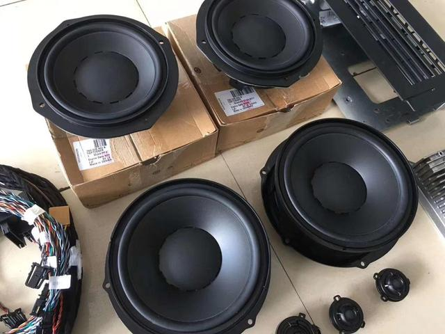 For SHARAN Dynaudio Speakers Set (4 Tweeter/4 Woofer/1 Amplifier) With Cables 1