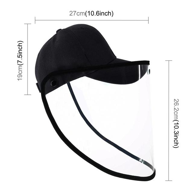 PULUZ Outdoor Protective Baseball cap Anti-saliva Full Face Mask Cover Hat Safety Face Shield Removable Transparent Face Cover 1