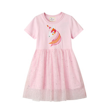 New Unicorn Princess Tutu Dresses Cotton Animals Girls Clothing Summer Lace Rainbow Kids Girls Dress girls summer dresses 2018 animals appliqued girls dress unicorn printed kids dresses for girls clothing princess costume child