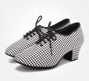 Image 2 - 2020 Latin Dance Shoes For Women Teachers Shoe Girls Ladies Leather Ballroom Waltz Tango Foxtrot Quick Step Dance Shoes BD