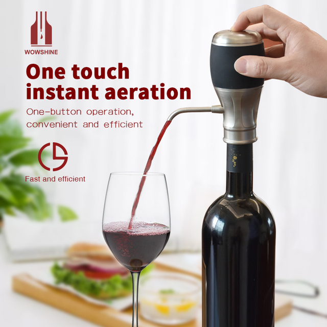 Factory Wholesale FedEx/DHL/UPS Shipping FCC CE RoHS passed 10pcs Electric Wine Aerator One Touch Aeration Automatically Pour