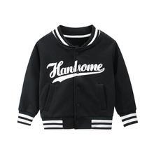 Толстовка для маленьких мальчиков; Пальто с буквенным принтом; теплая куртка; зимние топы; одежда