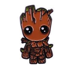 Groot bebê broche e esmalte pino herói lapela pino fã coleção presentes