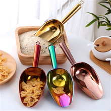 Shovel Ice-Cream Scoop Kitchen-Gadgets Candy Stainless-Steel Buffet Spice Gold Bin Spoons