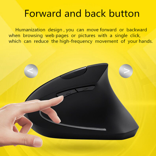 Wireless Vertical Gaming Mouse With Mouse Pad.