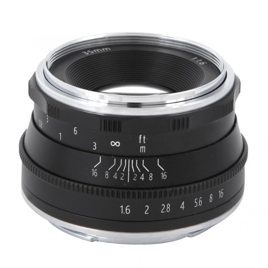 Schwarz Topiky CC-Mil3516N Spiegelloses Kameraobjektiv Metall 35 ...