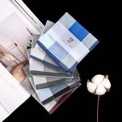 Новые Разноцветные квадратные полосы 100% хлопчатобумажные носовые платки 43*43 см мужской классический узор винтажный Карманный платок плед