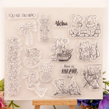 Bear Animals Clear Stamps Seal for DIY Scrapbooking Card Rubber Stamps Making Album Photo Crafts Handmade Decoration New Stamps azsg lovely cat clear stamps seal for diy scrapbooking card making photo album decoration supplies