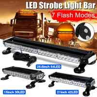 42 LED 4 Side Car Roof Advisor Beacon Strobe Flashing Security Warning Light Bar Emergency Light Magnetic 7 Flash Patterns