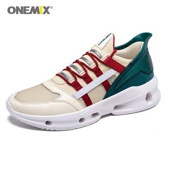 onemix Man Running Shoes for Men Nice Retro Trend Trainers Zapatillas Sport Jogging Breathalbe Mesh Traveling Walking Sport Shoe