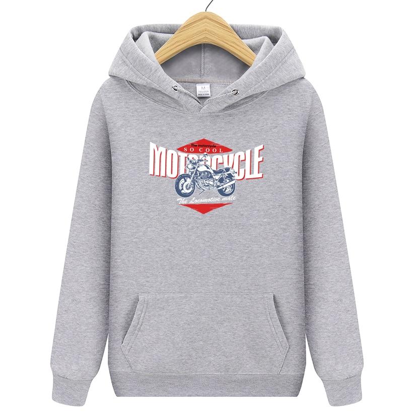Motorcycle Zip Up Hoodie Rocket Hooded Sweatshirt for Men