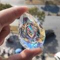 Подвесная кристаллическая Призма 62 мм, Ловец Солнца для украшения окон, детали для люстры AB-Color, «сделай сам», аксессуары для домашнего и сва...