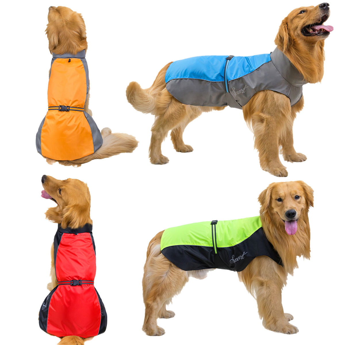 New Pet Dog Rain Coat Waterproof Jackets Breathable Assault Raincoat For Big Dogs Cats Apparel Clothes Pet Supplies 7XL 8XL 9XL