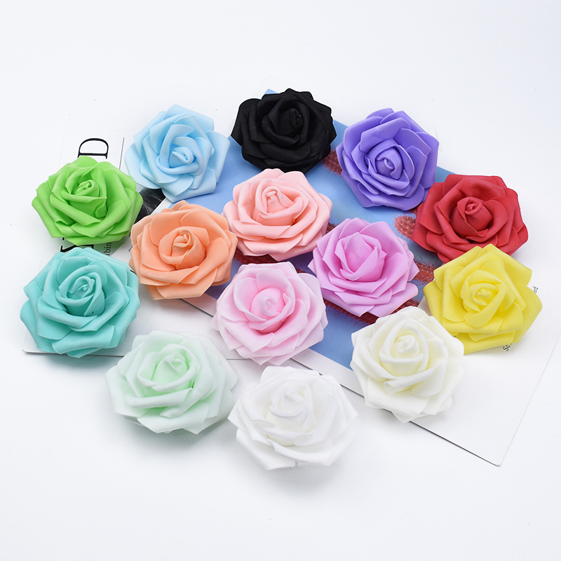 5/10/20 Pieces 7CM Foam Teddy Bear Of Roses Diy Gifts Box Wedding Car Home Decor Bridal Accessories Clearance Artificial Flowers