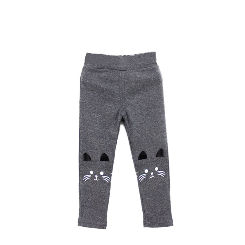 Cute Rabbit Printed Girls Child Pants Winter Autumn Bottoms Kids Baby Toddler Inside Warm Fleece Leggings Trousers 26
