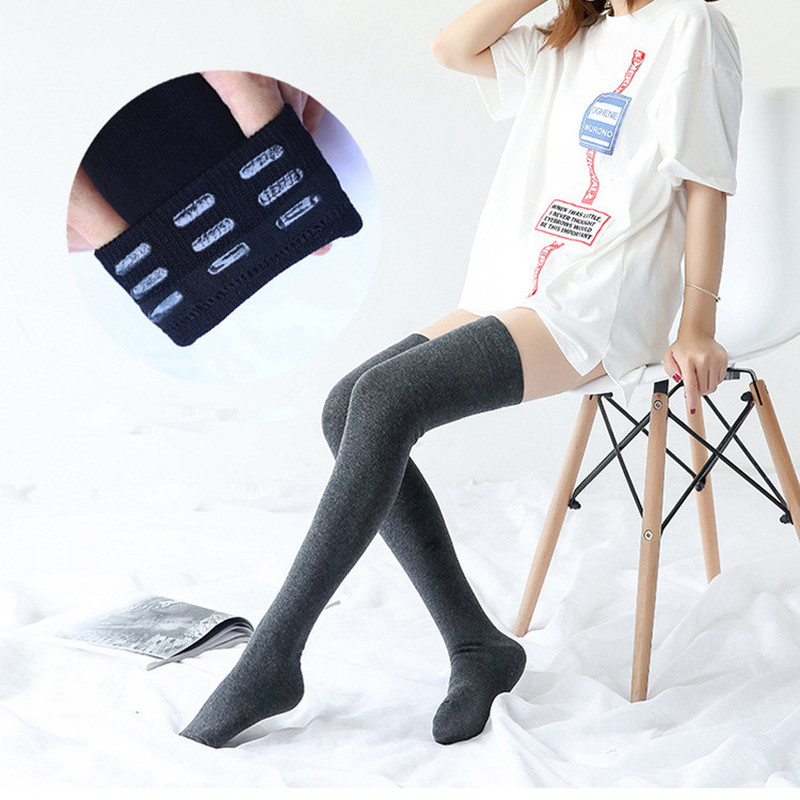 1PC New Fashion Women's Non-slip Stockings Sexy Warm Thigh High Over The Knee Socks Long Cotton Stockings For Ladies Accessories