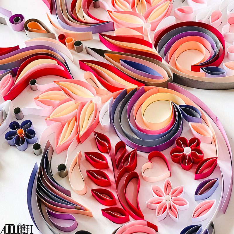 20 inch butterfly quilling illustration material package DIY creative slot craft paper handmade decoration gift paper draft 2