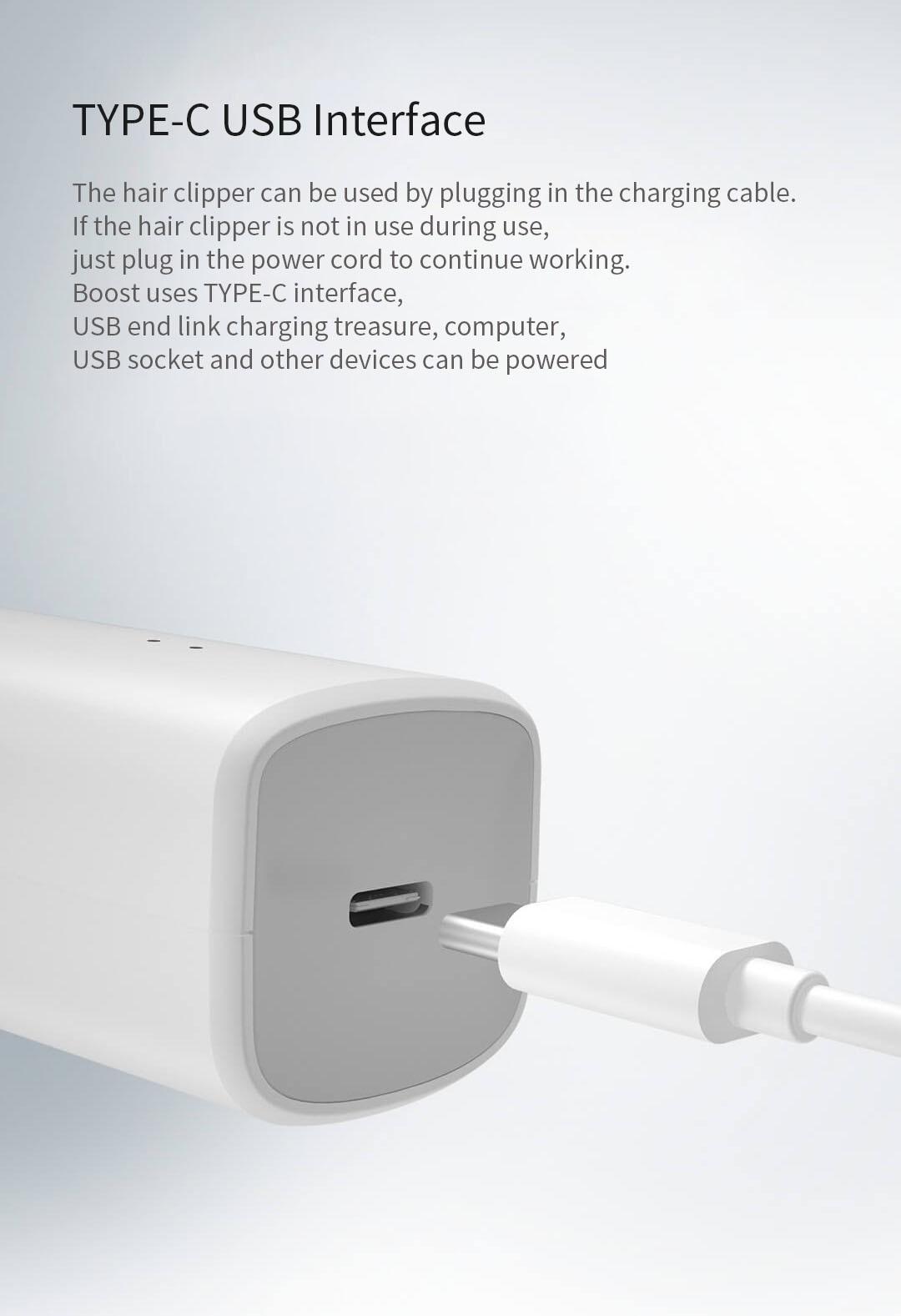 Xiaomi ENCHEN Boost USB Electric Hair Clipper Two Speed Ceramic Cutter Hair Fast Charging Hair Trimmer Children Hair Clipper 7