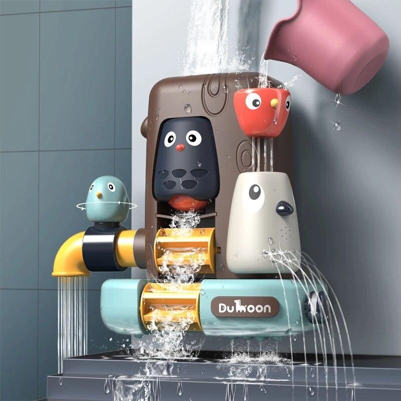 Pipeline Water Spray Shower Bath Toys Game Elephant Mushroom Bird Baby Children Swimming Bathing Bathroom Toddler Kids Gifts