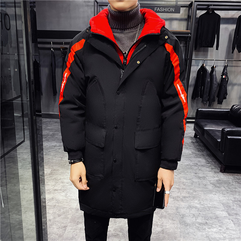 2019 Winter Jacket Men's Parkas Long Style Thickened Cotton Jacket