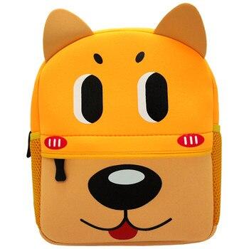 3D Cartoon Children Backpacks School Bags Baby Cut Toddler Kids Bag Neoprene Animal Backpack Kindergarten Bag Girl Boys 1-5Y - YT001-A8