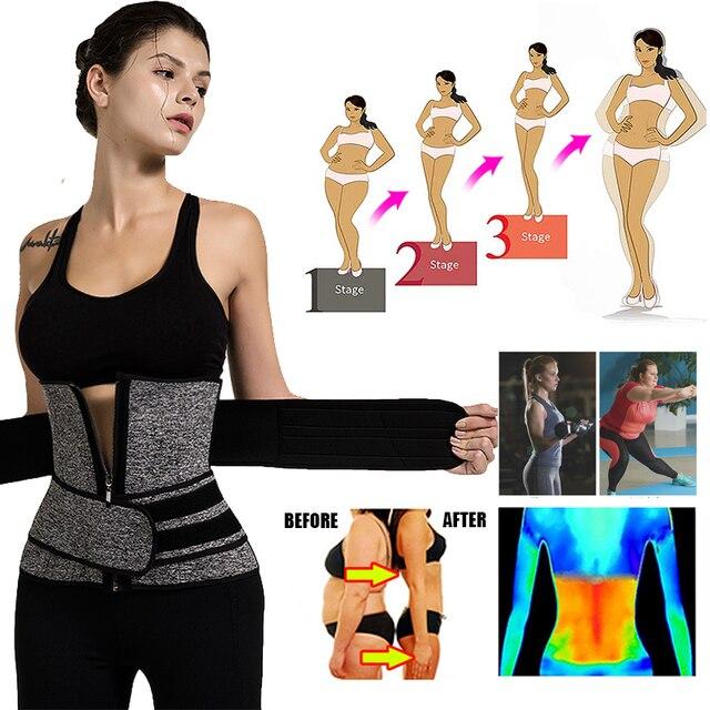 Neoprene Sauna Shaper Waist Trainer Corset Sweat Slimming Belt for Women Weight Loss Compression Trimmer Workout Fitness 1