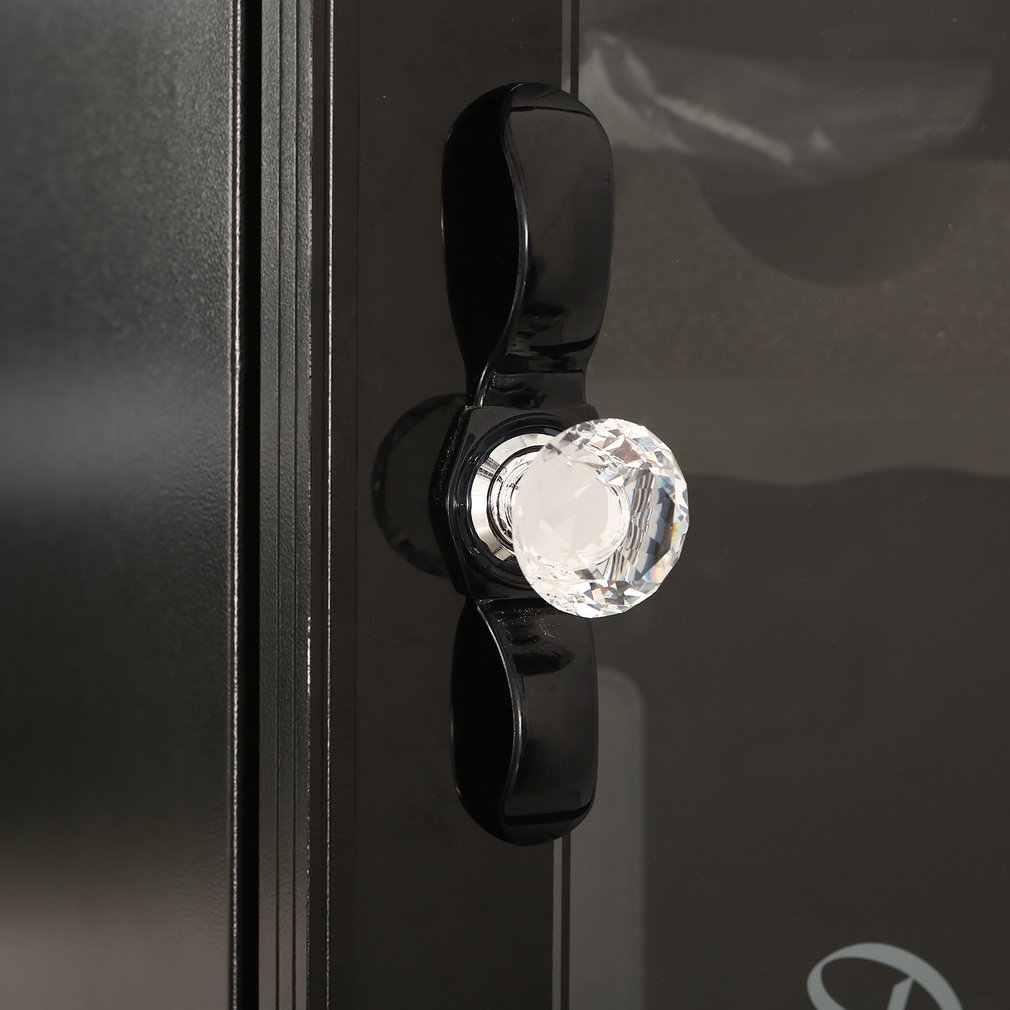 Quente 30mm diamante limpar cristal porta de vidro puxar gaveta gabinete mobiliário acessório lidar com botão parafuso em todo o mundo