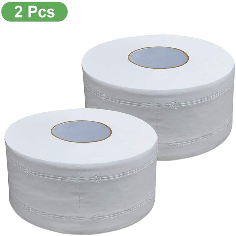 4 Ply Jumbo Roll Toilet Paper, 2 Big Roll Super Soft Bath Tissue  Natural Household Toilet Paper Roll Strong Water Absorption
