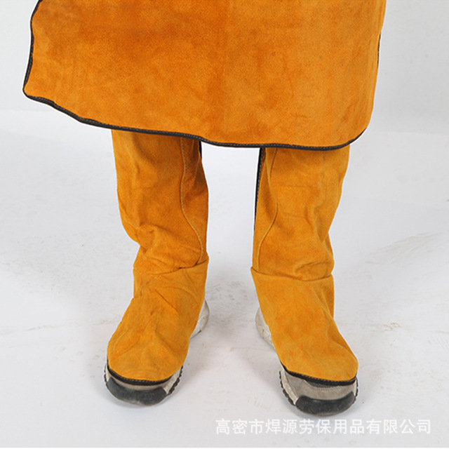 Cattlehide Welding Leather Long Shoes Boots Welding Fire Protection Foot Welder Foot Cover Wear Insulation Safety Work Shoes