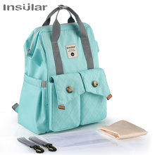 Insular Diaper Bag Backpack For Mom Large Capacity Stroller Organizer Mommy Maternity Travel Bag Fashion Nappy Changing Baby Bag