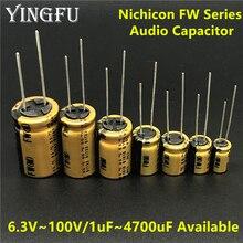 NICHICON FW Series 6.3V~100V/1uF~4700uF Available HIFI Audio Capacitor For Audio Equipment