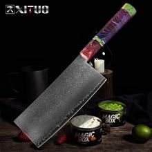 XITUO מטבח סכין פלדת דמשק 67 שכבה סיני שף סכין חד קליבר פילינג ירקות סכין בית מלון בישול כליםסכיני מטבח