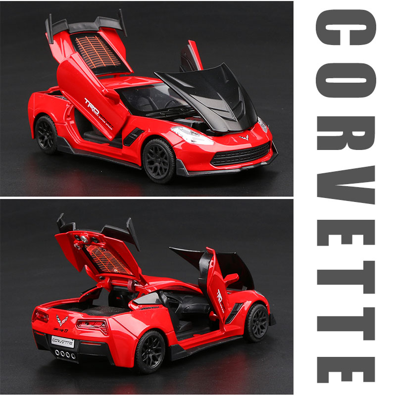 Chevrolet corvette carrinhos de brinquedo colecionáveis, carro