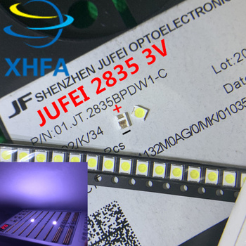 50pcs Original JUFEI LED 3528 2835 1210 Light Beads High Power 1W 3V Cool white For LED LCD TV Backlight Applicatio image