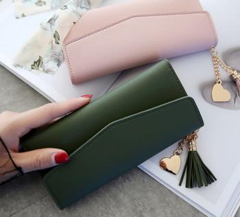Kobiety portfele telefon Clutch Bag torebki długie portfele dla dziewczyny panie pieniądze portfel etui na karty Tassel portfele 2020 nowy tanie i dobre opinie HUANILAI 0 15 Skóra syntetyczna 9 5cminch Stałe Moda ZHEYSP03 Wnętrze slot kieszeń Kieszeń na telefon komórkowy Wewnętrzna kieszeń